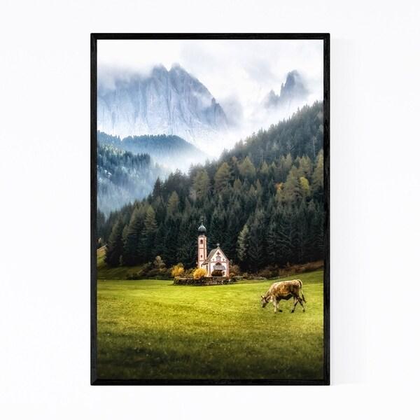 Noir Gallery Italy Dolomites Mountains Alps Framed Art Print