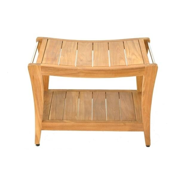 Laplaya Natural Finish Teak Wood Bench Medium Free Shipping Today 27458260