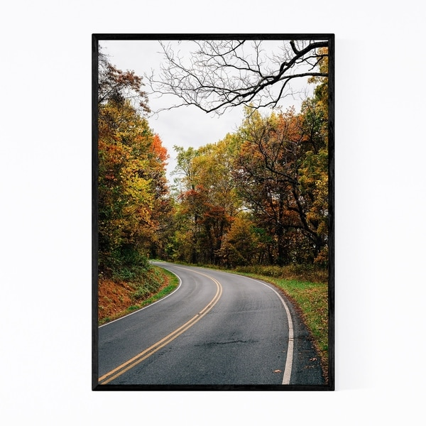 Noir Gallery Shenandoah Skyline Drive Autumn Framed Art Print