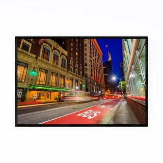 Noir Gallery Baltimore Night Cityscape Urban Framed Art Print