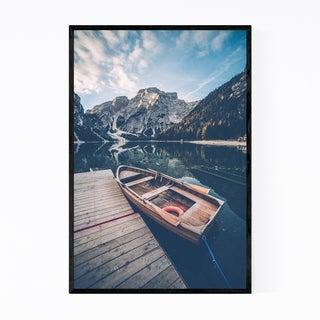 Noir Gallery Braies Lake Dolomites Alps Italy Framed Art Print