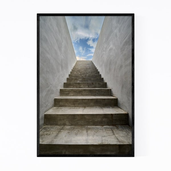 Noir Gallery Stairs to Sky Abstract Urban Framed Art Print