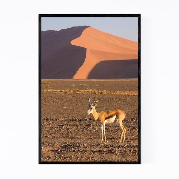 Noir Gallery Namibia Springbok Animal Framed Art Print