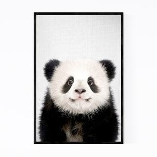 Noir Gallery Cute Baby Panda Peekaboo Animal Framed Art Print