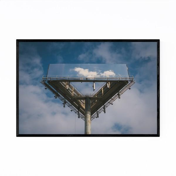 Noir Gallery Abstract Blue Sky Clouds Art Framed Art Print
