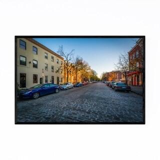 Noir Gallery Cobblestone Street Baltimore Framed Art Print