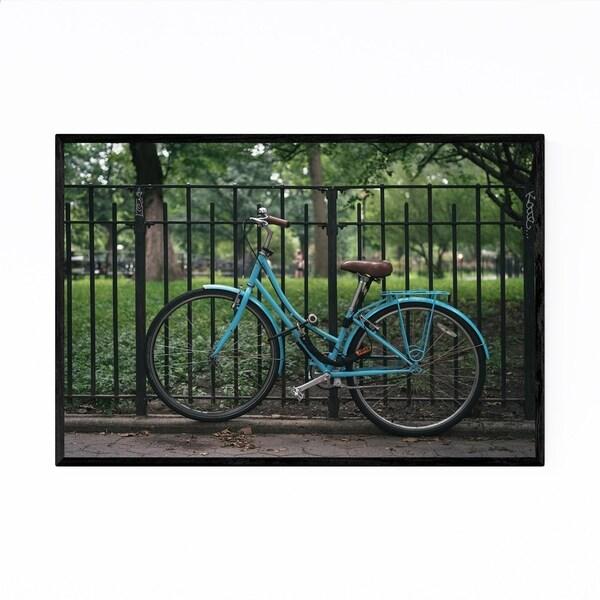 Noir Gallery Blue Bike New York City NYC Framed Art Print