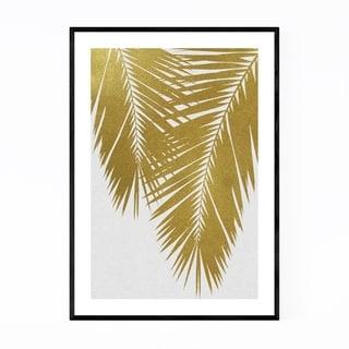 Noir Gallery Beach Coastal Palm Tree Leaf Framed Art Print