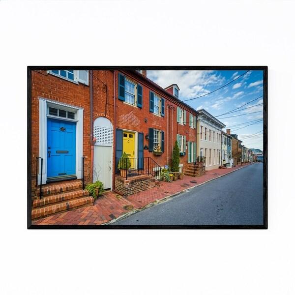 Noir Gallery Annapolis Maryland Row Houses Framed Art Print