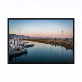 Noir Gallery Santa Barbara California Harbor Framed Art Print