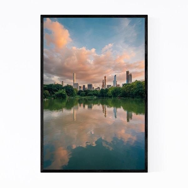 Noir Gallery New York City Manhattan Skyline Framed Art Print