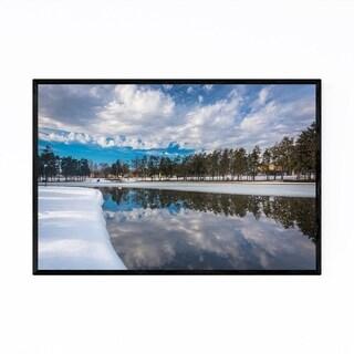 Noir Gallery York Pennsylvania Winter Lake Framed Art Print