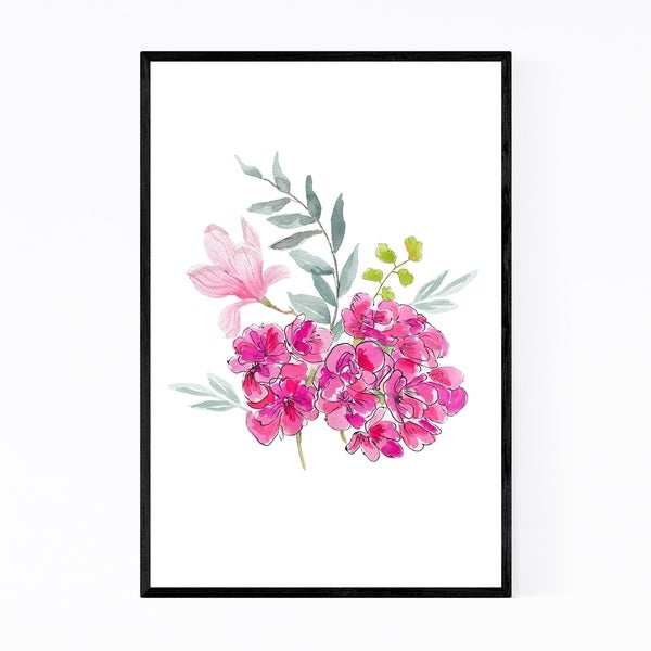 Noir Gallery Malvon Botanical Floral Plants Framed Art Print