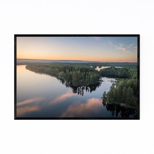 Noir Gallery Finland Lake Landscape Nature Framed Art Print