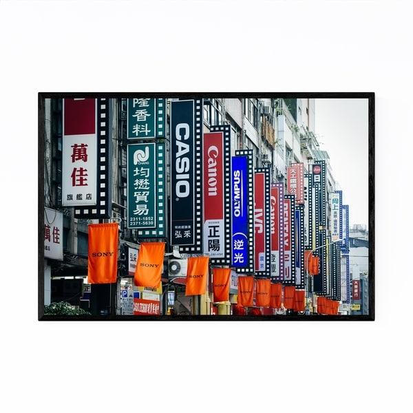 Noir Gallery Taipei Taiwan Camera Street Sign Framed Art Print