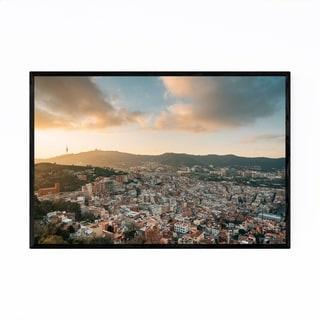 Noir Gallery Barcelona Spain Cityscape View Framed Art Print