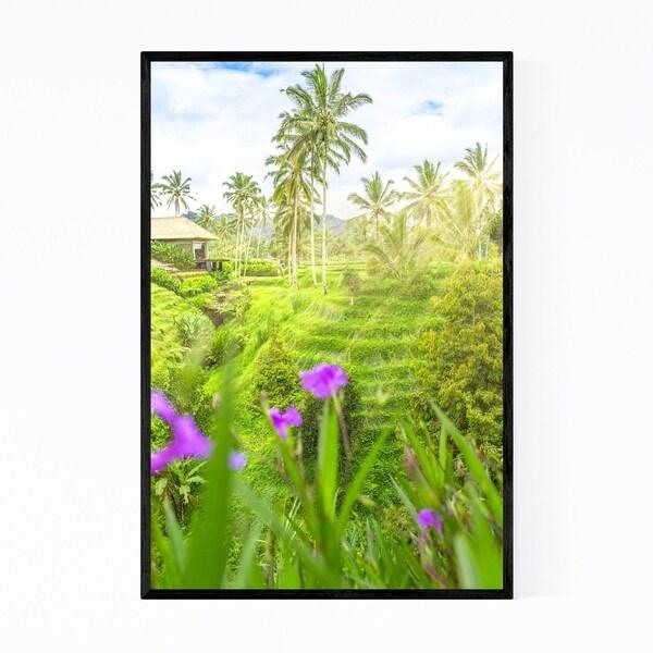 Noir Gallery Bali Indonesia Terraces Sunrise Framed Art Print