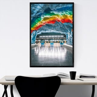 Noir Gallery Stockholm Sweden Train Station Framed Art Print