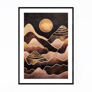 Noir Gallery Abstract Digital Mountain Nature Framed Art Print