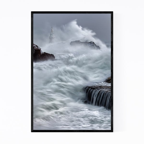 Noir Gallery Ahtopol Bulgaria Lighthouse Framed Art Print