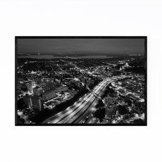 Noir Gallery Seattle Downtown Cityscape Framed Art Print