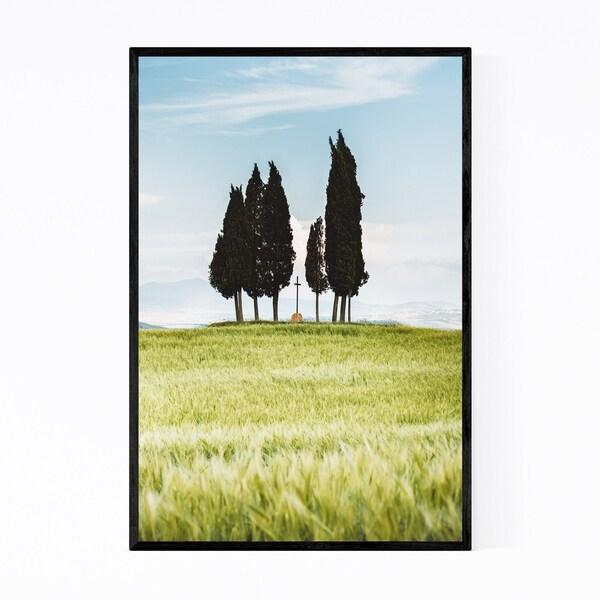 Noir Gallery Tuscany Italy Trees Field Nature Framed Art Print