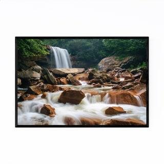 Noir Gallery West Virginia Forest Waterfall Framed Art Print