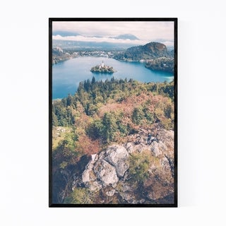 Noir Gallery Lake Bled Slovenia Photography Framed Art Print