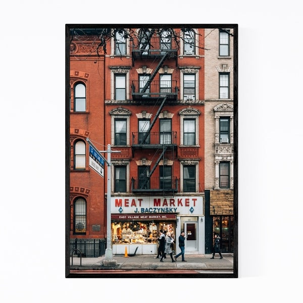 Noir Gallery Meat Market New York City NYC Framed Art Print