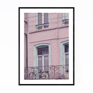 Noir Gallery France Pink Pastel House  Framed Art Print