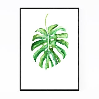Noir Gallery Watercolor Monstera Leaf Framed Art Print