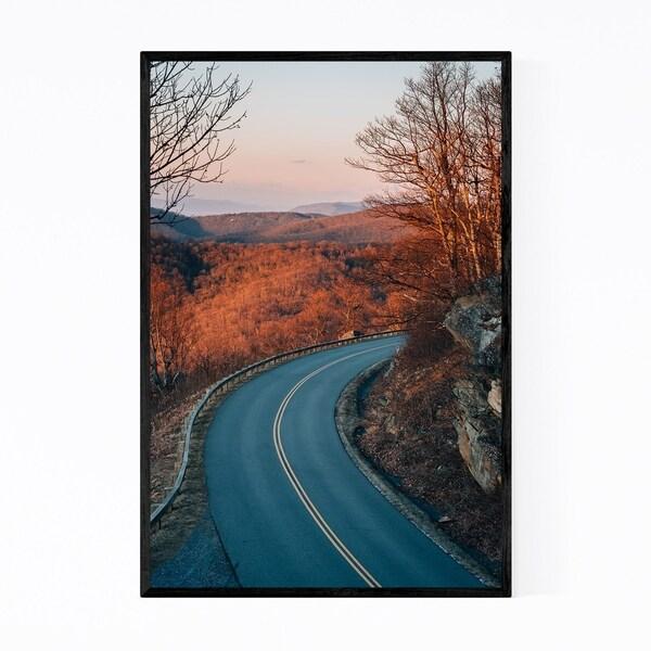 Noir Gallery Virginia Blue Ridge Parkway Road Framed Art Print