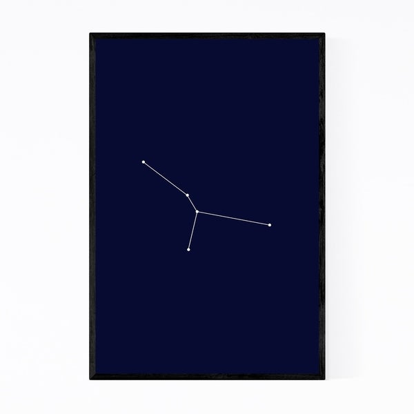 Noir Gallery Blue Cancer Astrology Zodiac Framed Art Print