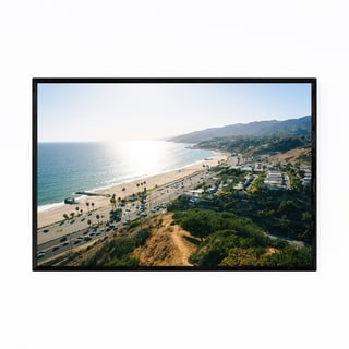 Noir Gallery Pacific Coast Palisades Beach CA Framed Art Print