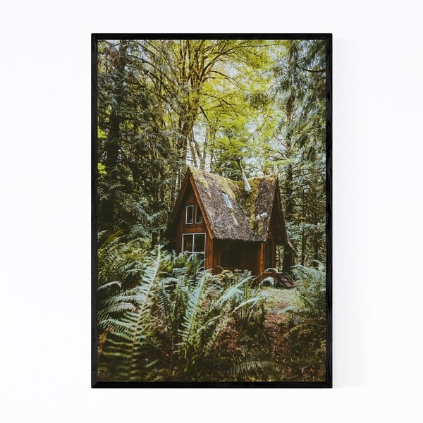 Noir Gallery Cabin Woods Forest Washington Framed Art Print