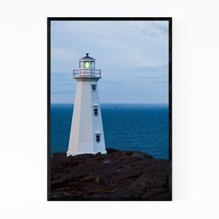 Noir Gallery Cape Spear Lighthouse St. Johns Framed Art Print