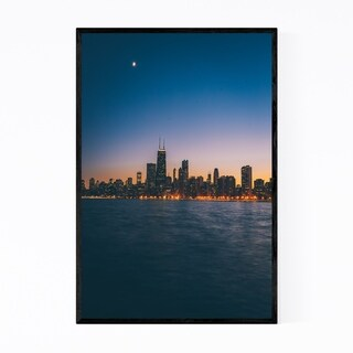 Noir Gallery Chicago Skyline Cityscape Urban Framed Art Print