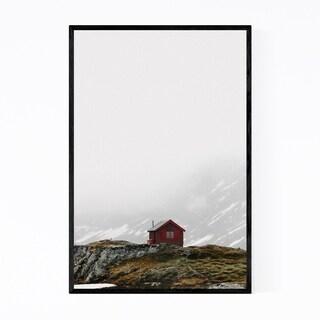 Noir Gallery Cabin Norway Landscape Nature Framed Art Print