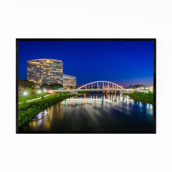 Noir Gallery Columbus, Ohio Bridge Photo Framed Art Print
