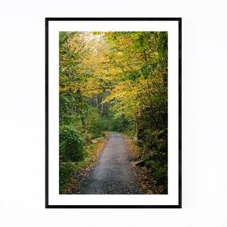Noir Gallery Forest Trail Autumn Fall Foliage Framed Art Print