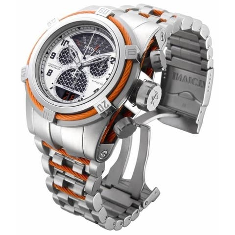 Invicta Men's 16315 'Bolt' Reserve Chronograph Orange and Silver Stainless Steel Watch