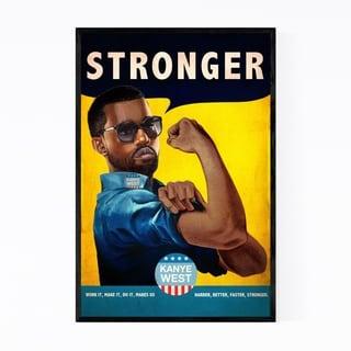 Noir Gallery Kanye West Stronger HipHop Music Framed Art Print