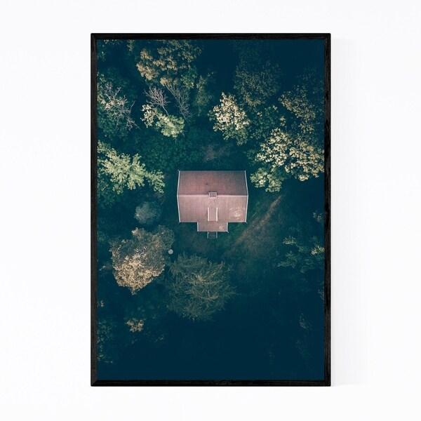Noir Gallery House in Forest Sweden Nature Framed Art Print