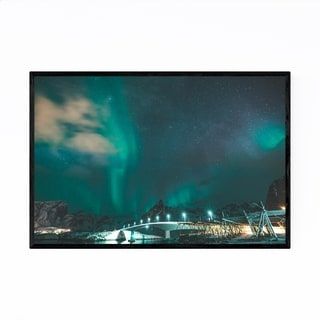 Noir Gallery Lofoten Norway Aurora Borealis Framed Art Print