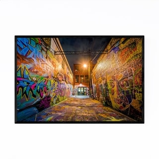 Noir Gallery Kensington Graffiti Toronto Framed Art Print