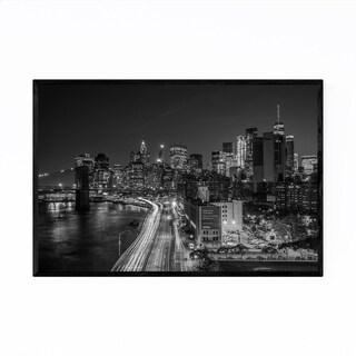 Noir Gallery Black & White New York Skyline Framed Art Print
