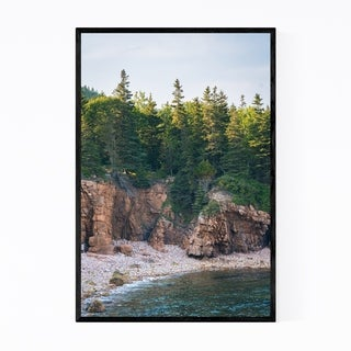 Noir Gallery Acadia National Park Coast Maine Framed Art Print
