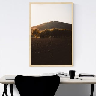 Noir Gallery Tuscany Italy Field Hill Nature Framed Art Print