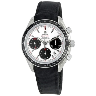 Link to Omega Men's 323.32.40.40.04.001 'Speedmaster' Chronograph Black Fabric Watch Similar Items in Men's Watches