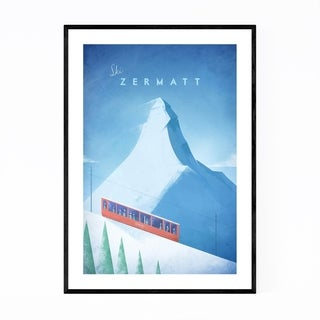 Noir Gallery Minimal Travel Print Switzerland Framed Art Print